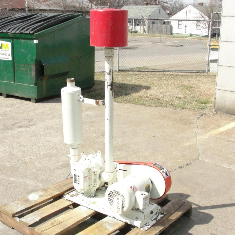 Blower 64 cfm, positive displacement blower Garden Denver, 5 hp3