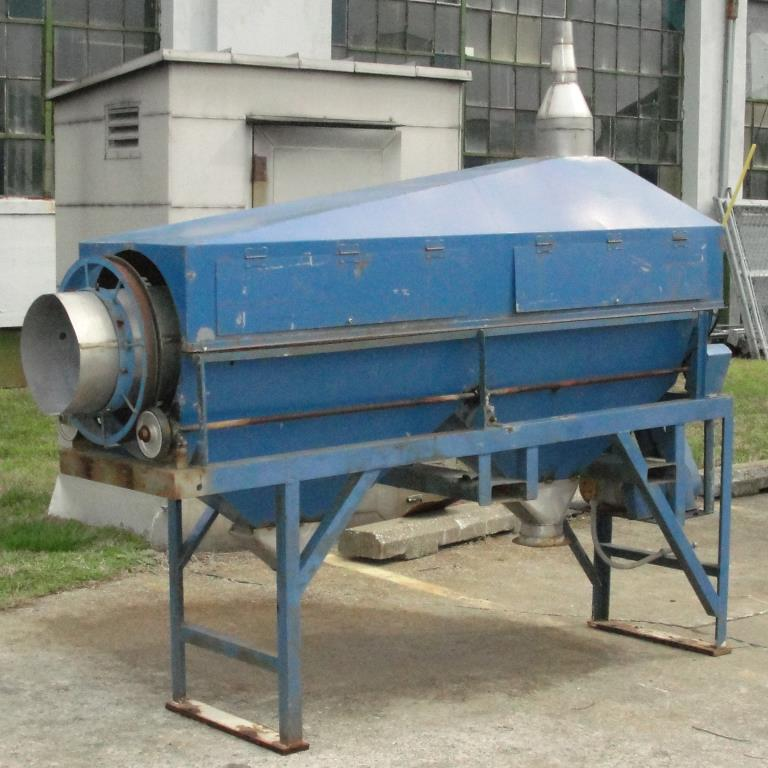 Screener and Sifter 14 dia x 108 l trommel screener Stainless Steel Contact Parts7