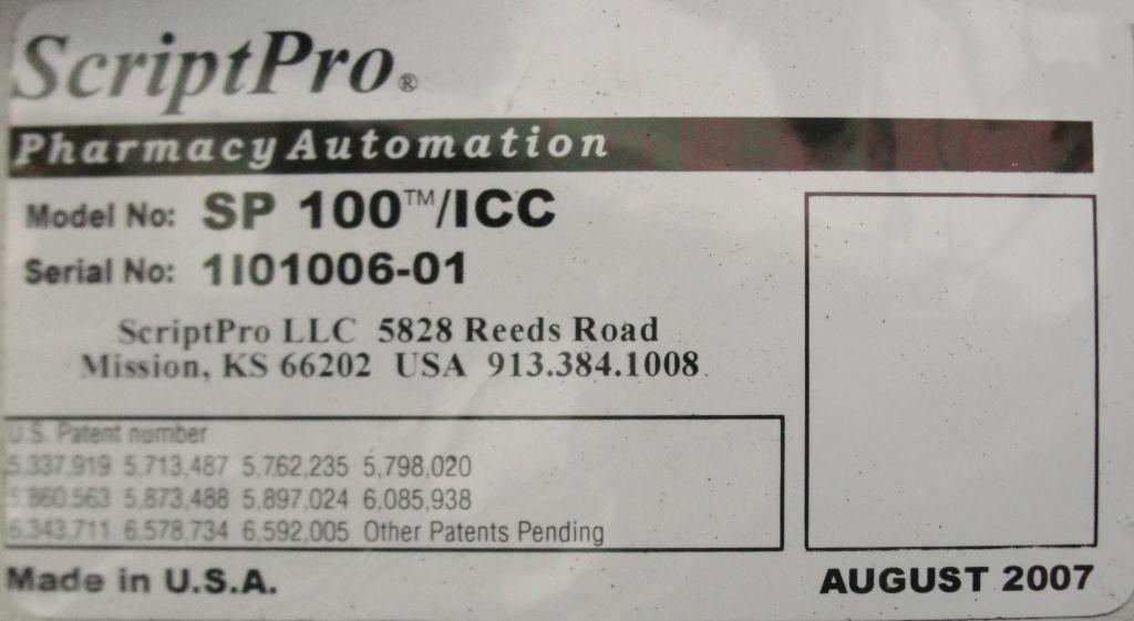 Filler ScriptPro capsule filler model SP-100-ICC7