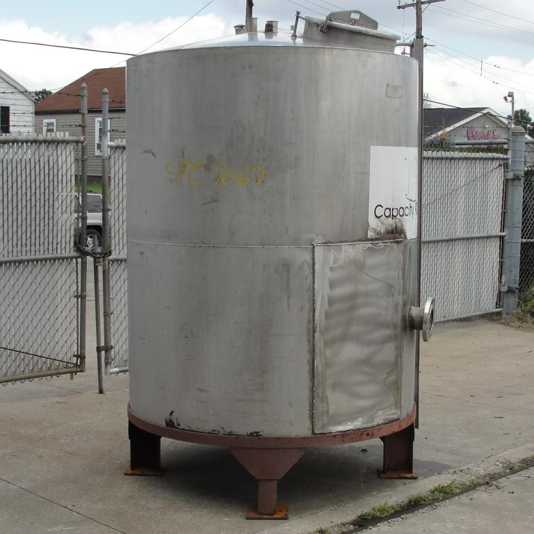 Tank 900 gallon vertical tank, Stainless Steel, conical5