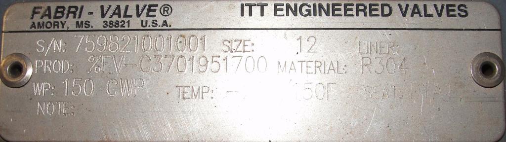 Valve 12 Fabri-Valve gate valve, hand wheel, Stainless Steel4