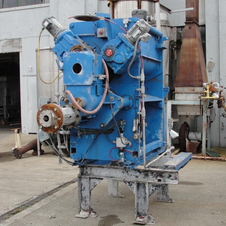 Extruder 16 diameter extruder kneader 7.5 hp drive7