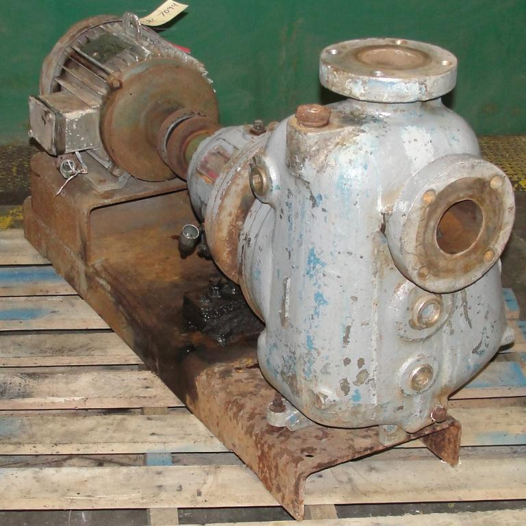 Pump 3x3x10 Dean Met-Pro corp centrifugal pump, 10 hp, Stainless Steel