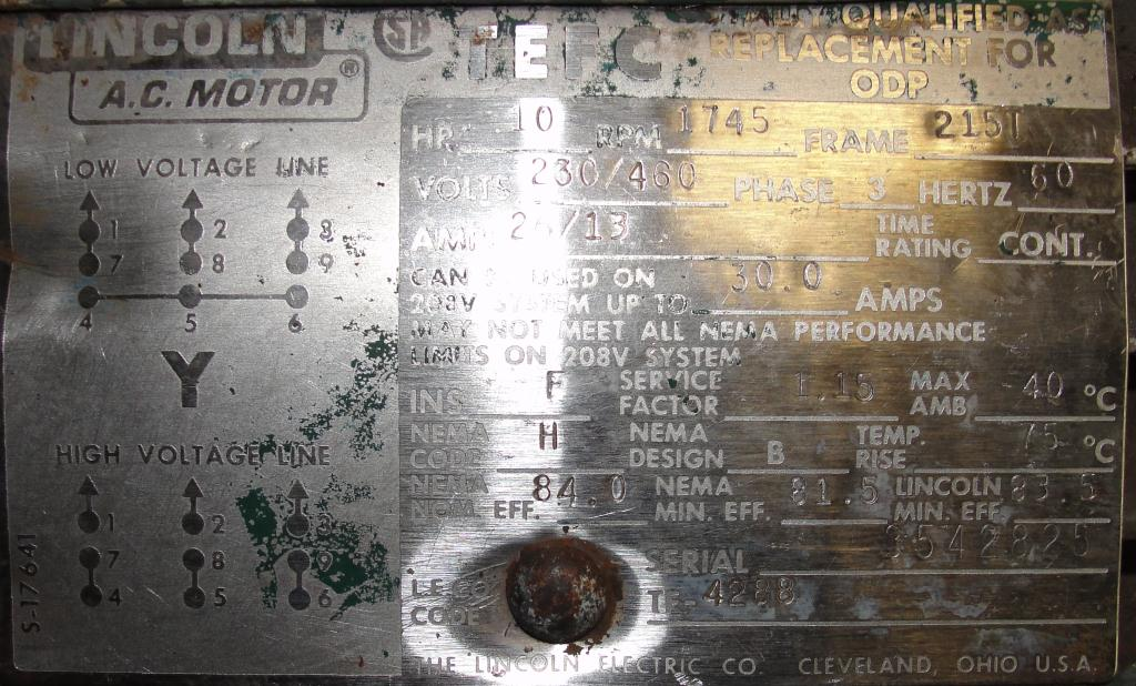 Pump 3x3x10 Dean Met-Pro corp centrifugal pump, 10 hp, Stainless Steel6