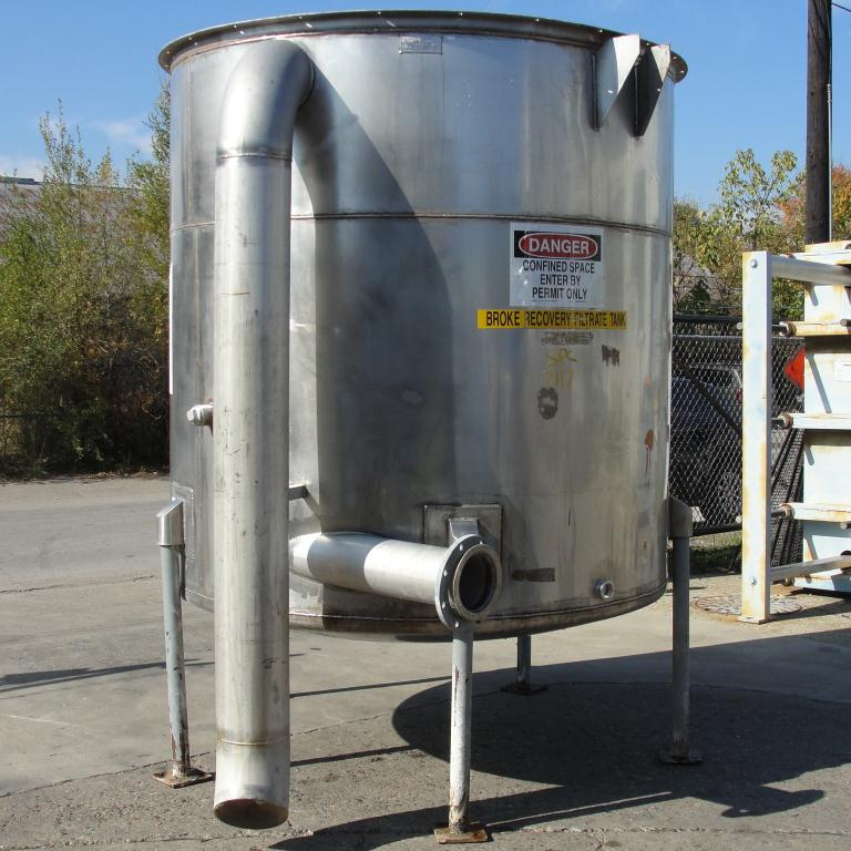 Tank 1100 gallon vertical tank, Stainless Steel, dish bottom3
