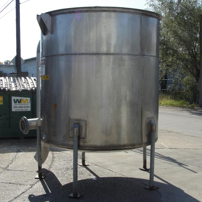 Tank 1100 gallon vertical tank, Stainless Steel, dish bottom4