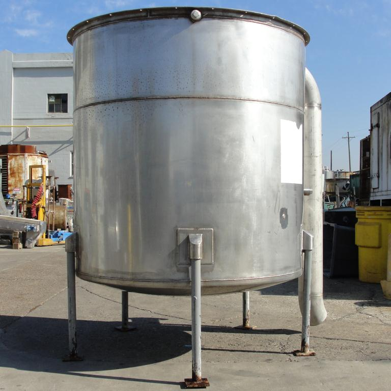 Tank 1100 gallon vertical tank, Stainless Steel, dish bottom5