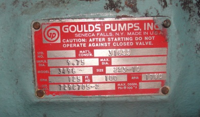 Pump 2x3-10 Goulds Pumps centrifugal pump, 10 hp, Stainless Steel3