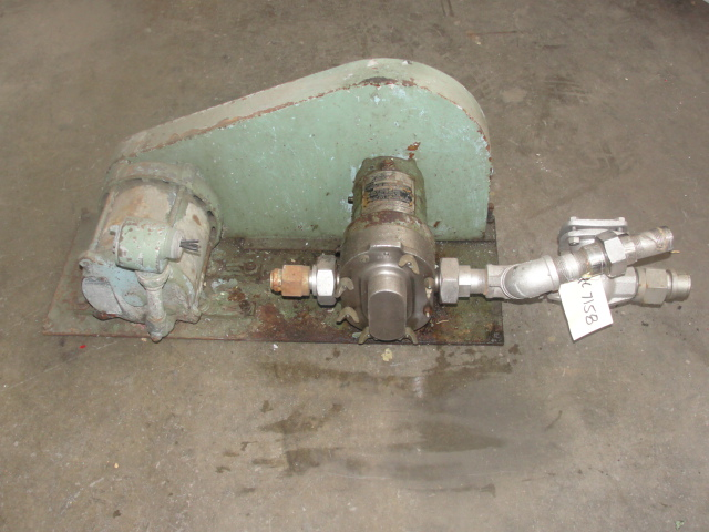 Pump 1 inlet Waukesha positive displacement pump model 10, Stainless Steel