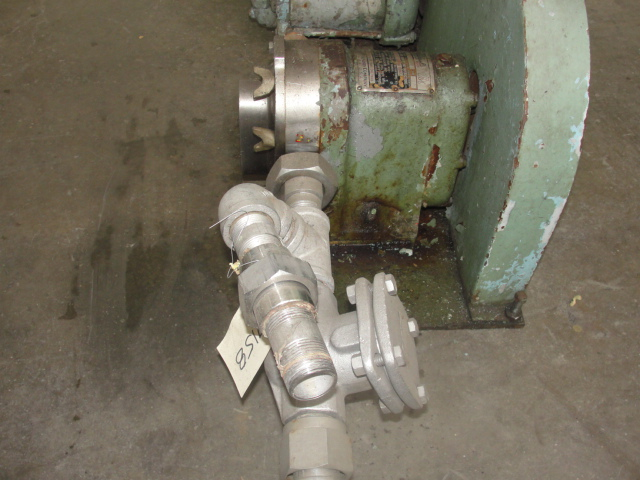 Pump 1 inlet Waukesha positive displacement pump model 10, Stainless Steel2