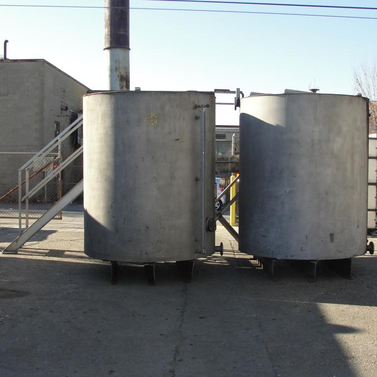 Tank 1450 gallon vertical tank, Stainless Steel, flat bottom, A pair of tanks with mezzanine7