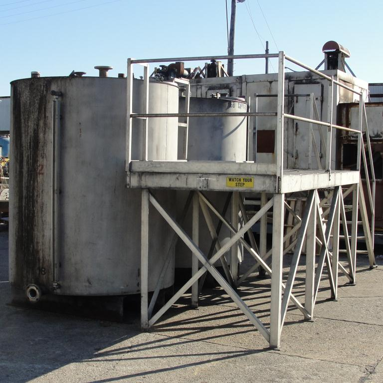 Tank 1450 gallon vertical tank, Stainless Steel, flat bottom, A pair of tanks with mezzanine9