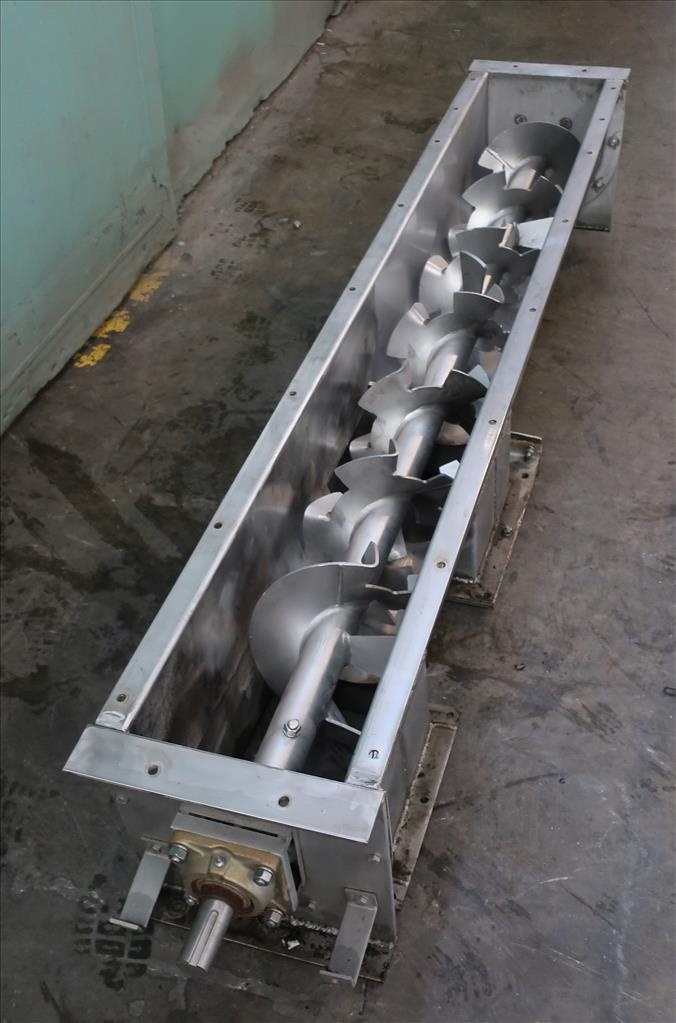 Conveyor screw conveyor Stainless Steel, 9 dia x 72l2