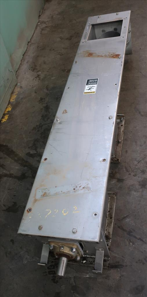 Conveyor screw conveyor Stainless Steel, 9 dia x 72l5