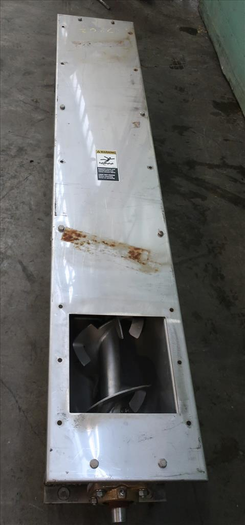 Conveyor screw conveyor Stainless Steel, 9 dia x 72l6