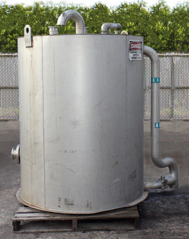Tank 375 gallon vertical tank, Stainless Steel2