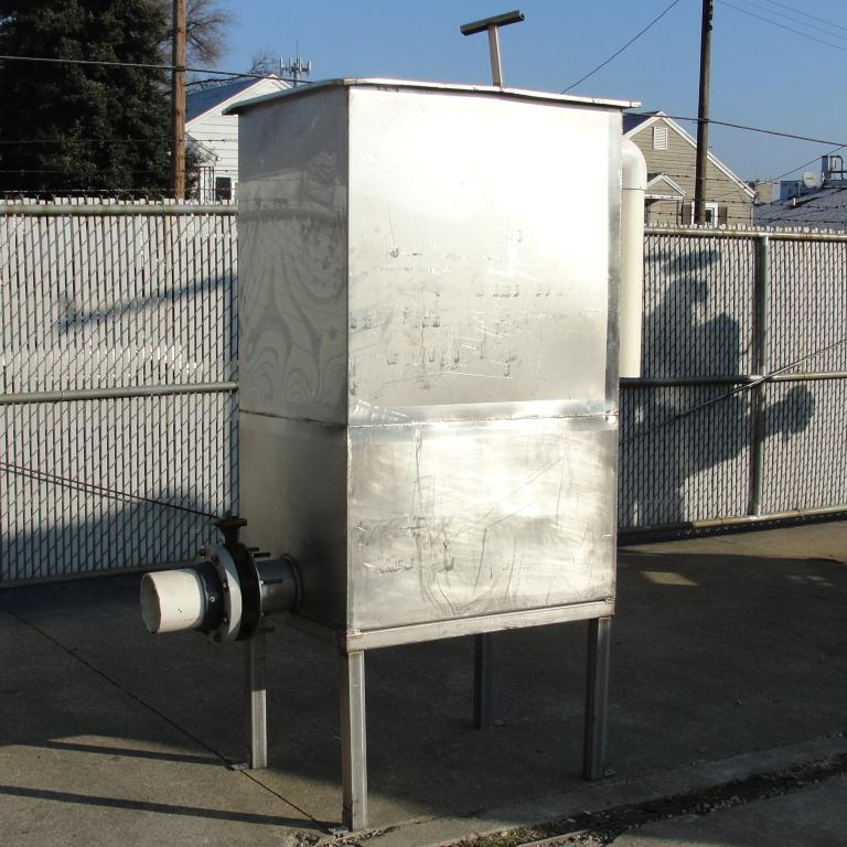 Tank 225 gallon vertical tank, Stainless Steel, flat bottom, Retangular3