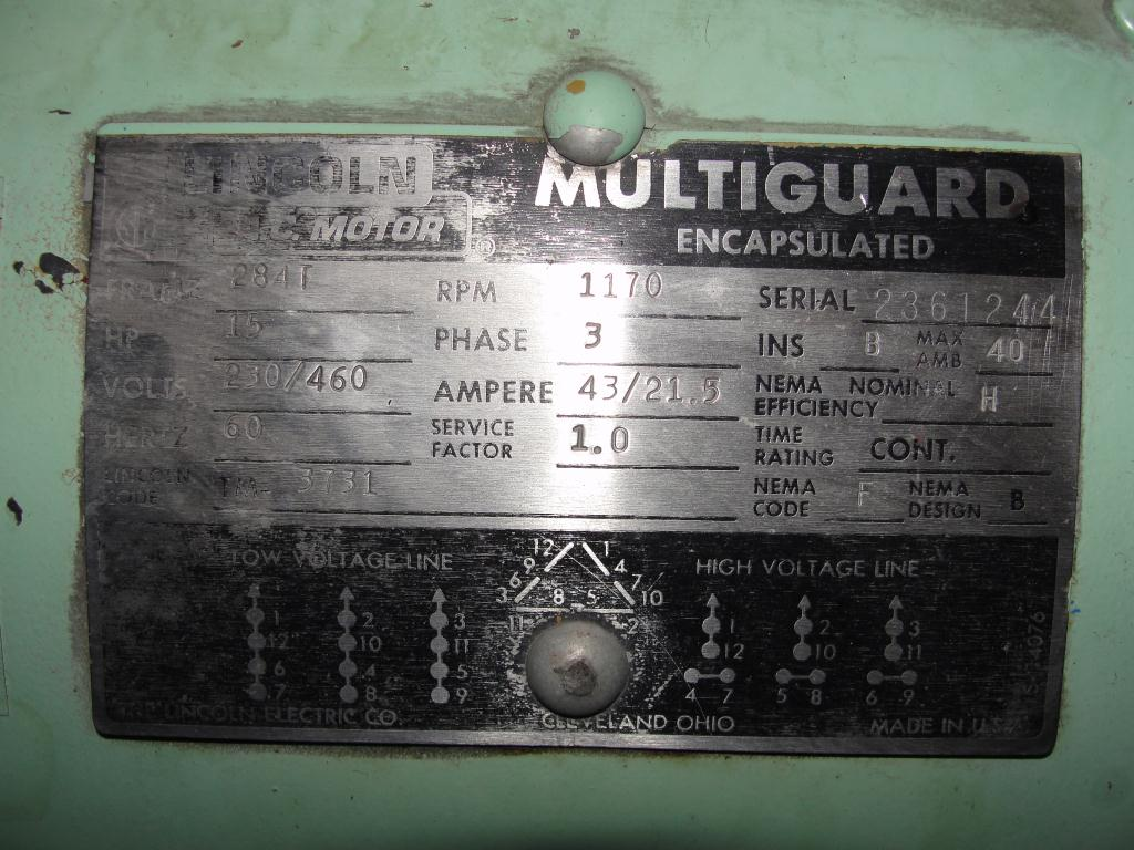 Pump 15 hp Vickers hydraulic pump7