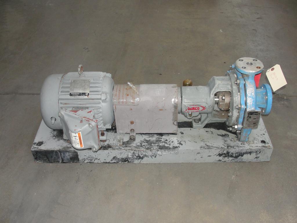 Pump 1.5x1x8 Durco centrifugal pump, 5 hp, Stainless Steel1