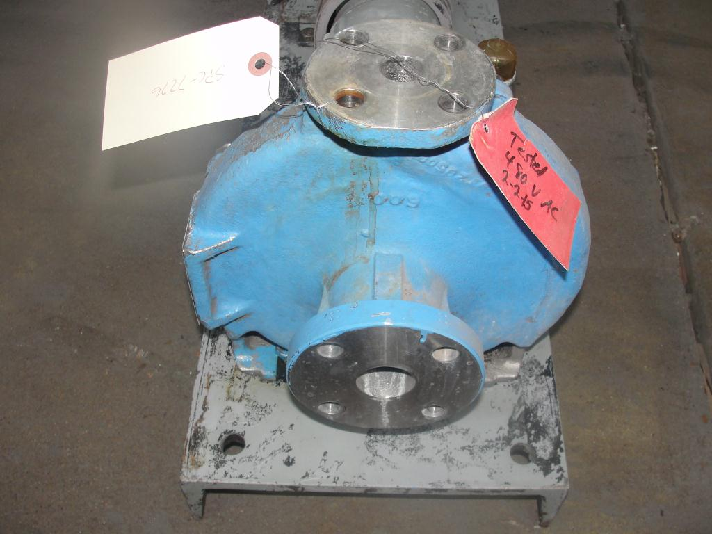 Pump 1.5x1x8 Durco centrifugal pump, 5 hp, Stainless Steel2