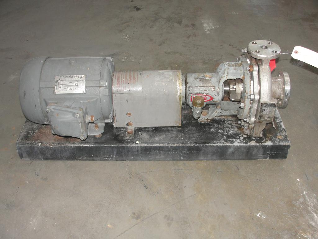 Pump 1.5x1x8 Durco centrifugal pump, 5 hp, Stainless Steel1