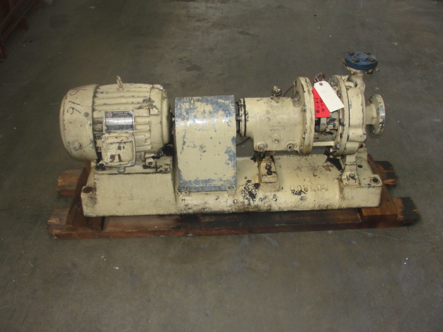 Pump 2x1x8 Goulds centrifugal pump, 7.5 hp, Stainless Steel1