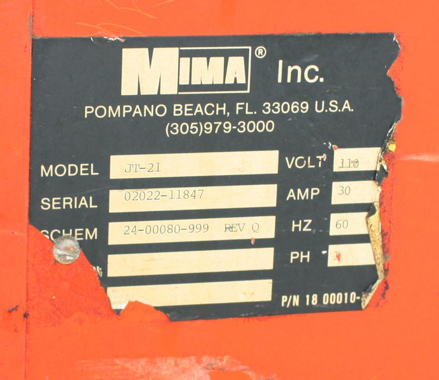 Wrapper Mima stretch wrapping machine model JT-21, 59 max. wrap height2