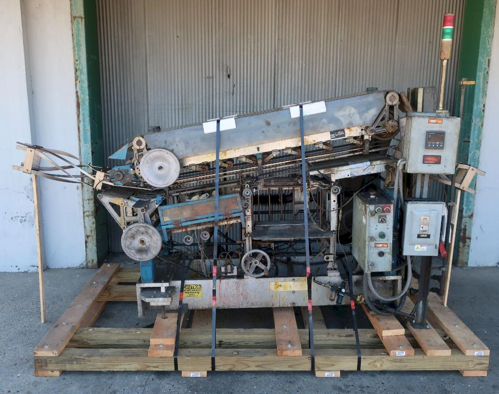 Labeler New Way roll through labeler model E5, Cold Glue, 500 cpm
