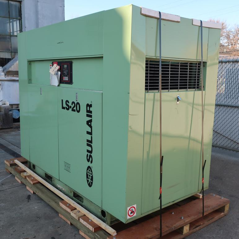 Compressor Sullair air compressor model LS20-100L AC, 500 cfm, Water cooled2