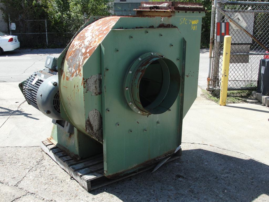 Blower 5681 cfm centrifugal fan American Fan Company model IE-19-AH K-26370-2, 50HP hp, CS1