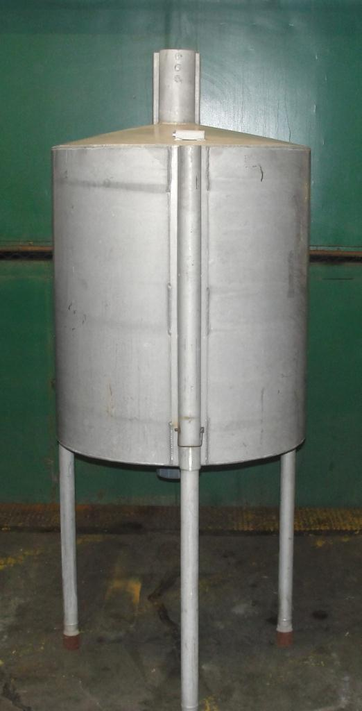 Tank 100 gallon vertical tank, Aluminum, conical bottom2