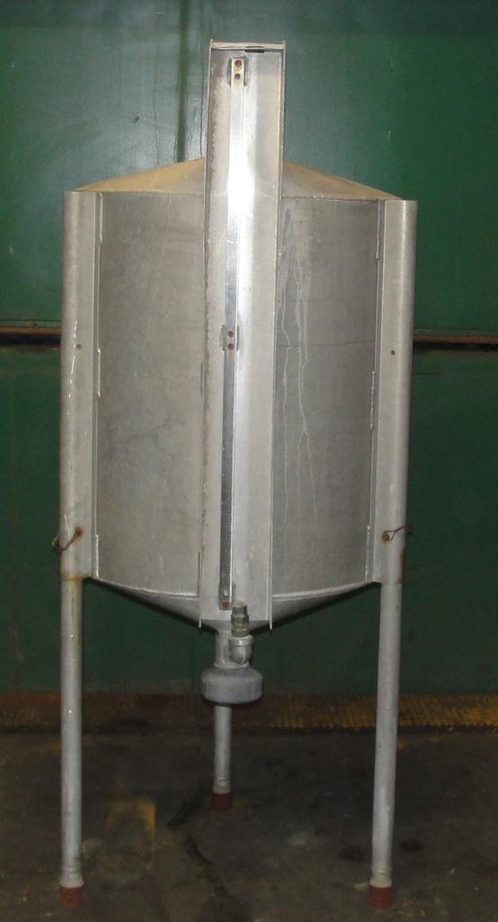 Tank 100 gallon vertical tank, Aluminum, conical bottom3
