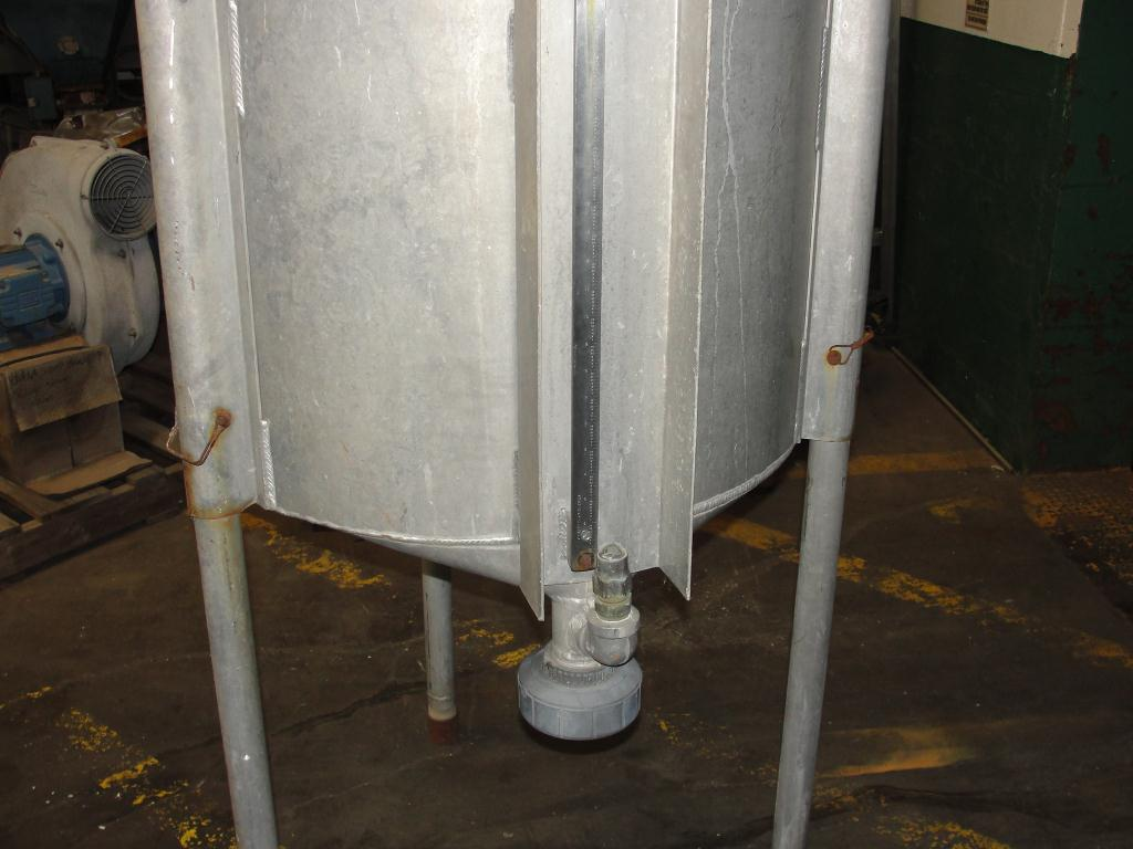 Tank 100 gallon vertical tank, Aluminum, conical bottom4