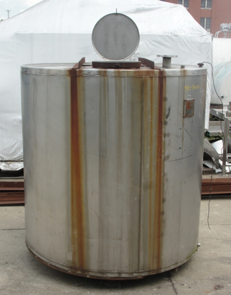 Tank 1,235 gallon vertical tank, Stainless Steel, flat Bottom