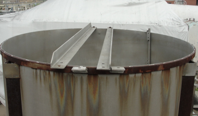 Tank 1166 gallon vertical tank, Stainless Steel, conical bottom2