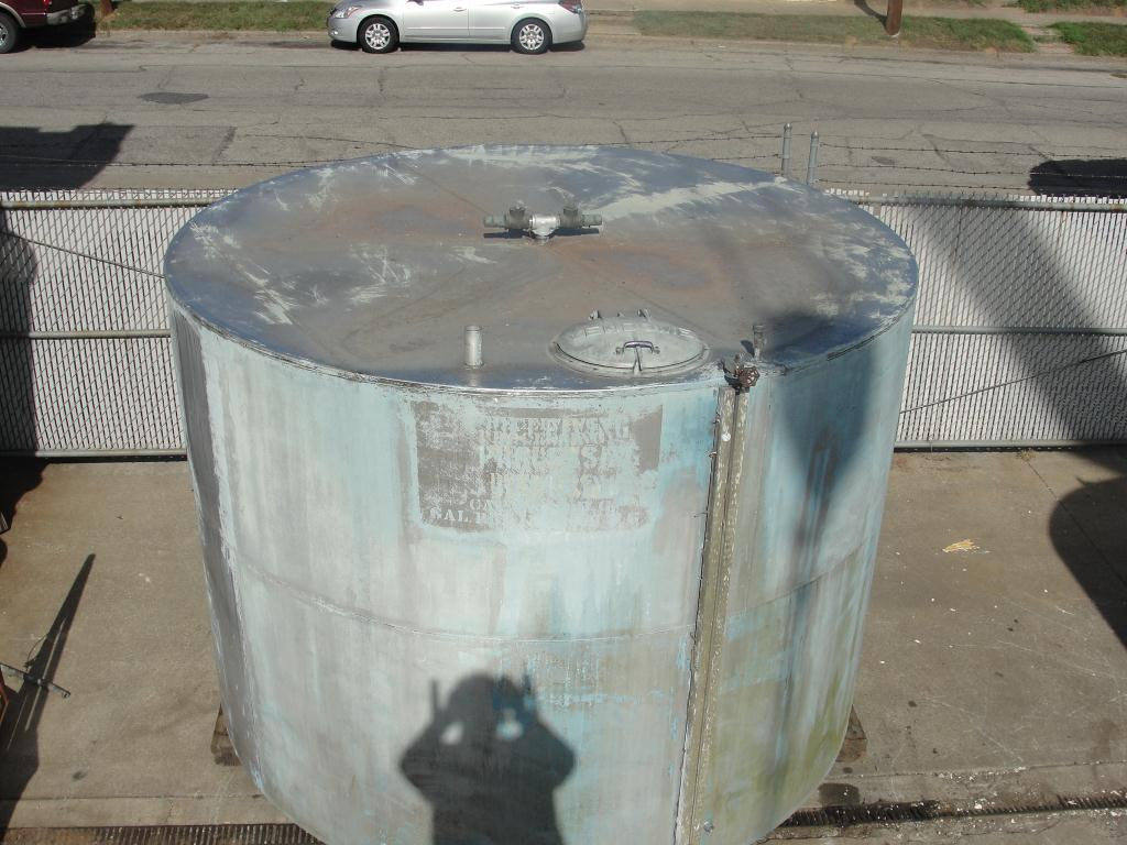 Tank 4180 gallon vertical tank, Stainless Steel, flat bottom3