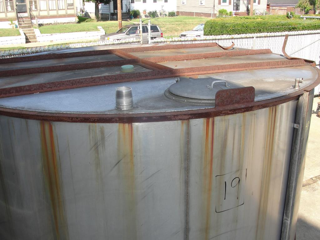 Tank 2985 gallon vertical tank, Stainless Steel, conical2
