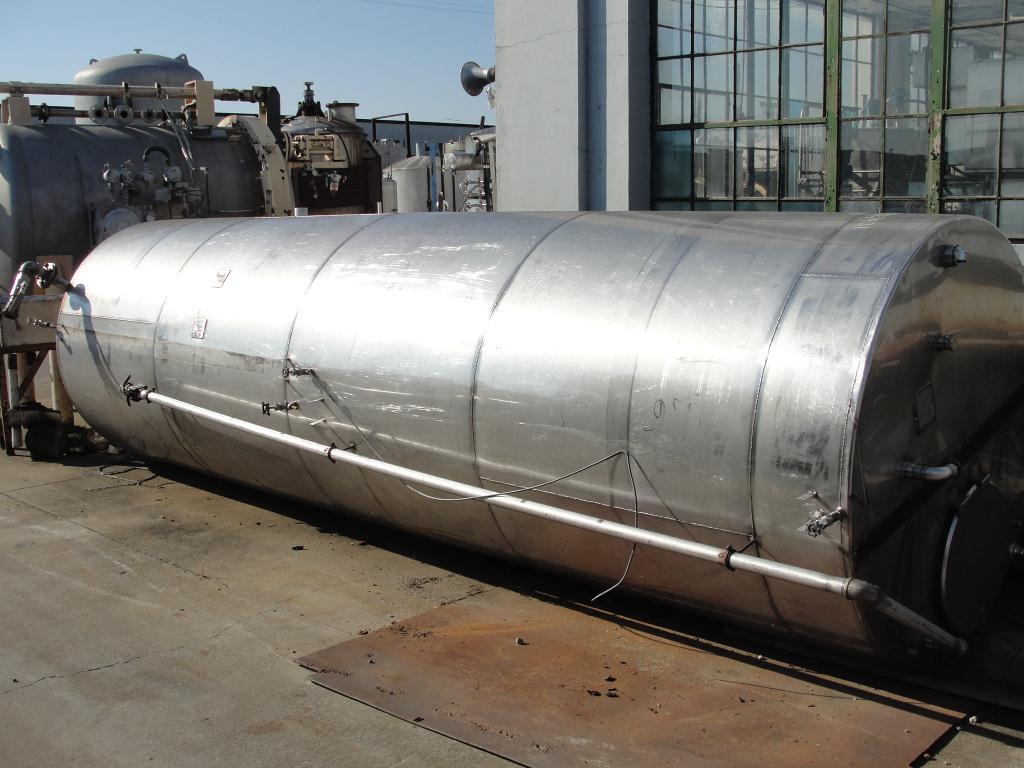 Tank 2500 gallon vertical tank, Stainless Steel, flat bottom2