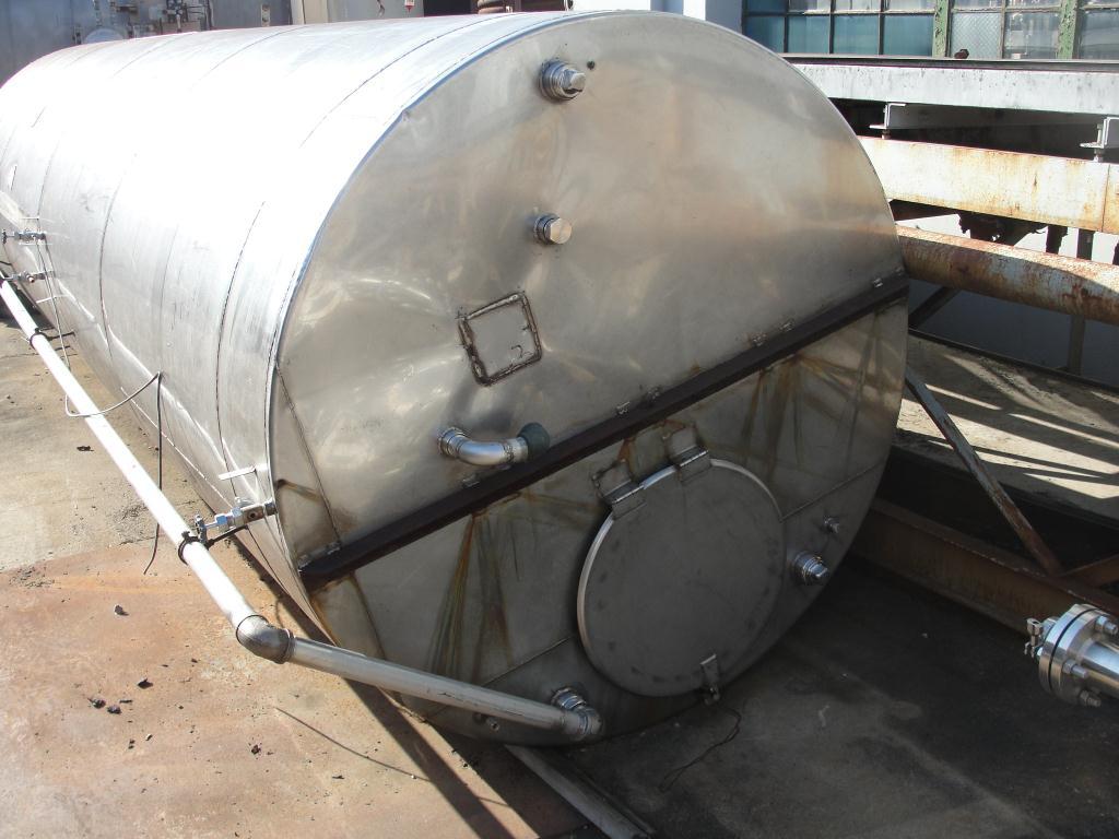 Tank 2500 gallon vertical tank, Stainless Steel, flat bottom3
