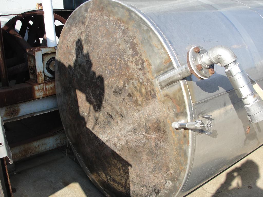 Tank 2500 gallon vertical tank, Stainless Steel, flat bottom4