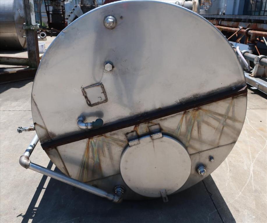 Tank 2500 gallon vertical tank, Stainless Steel, flat bottom6