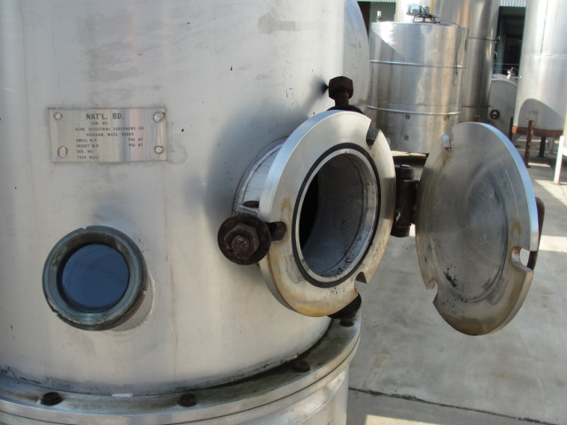 Tank 120 gallon vertical tank, Stainless Steel, 15 PSI @250 degrees F jacket, dish2