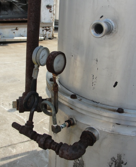 Tank 120 gallon vertical tank, Stainless Steel, 15 PSI @250 degrees F jacket, dish4