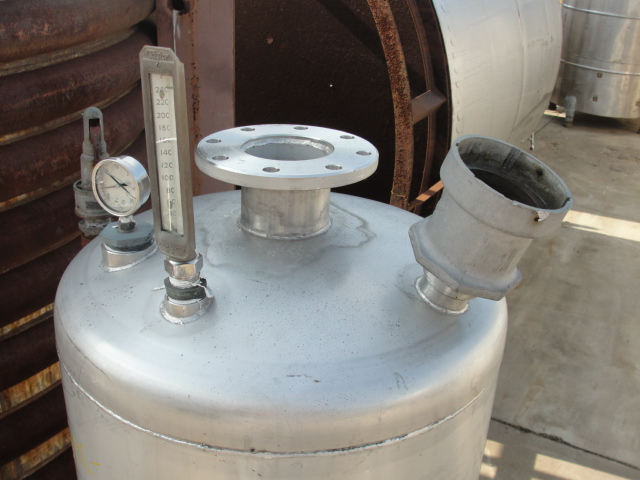 Tank 120 gallon vertical tank, Stainless Steel, 15 PSI @250 degrees F jacket, dish6