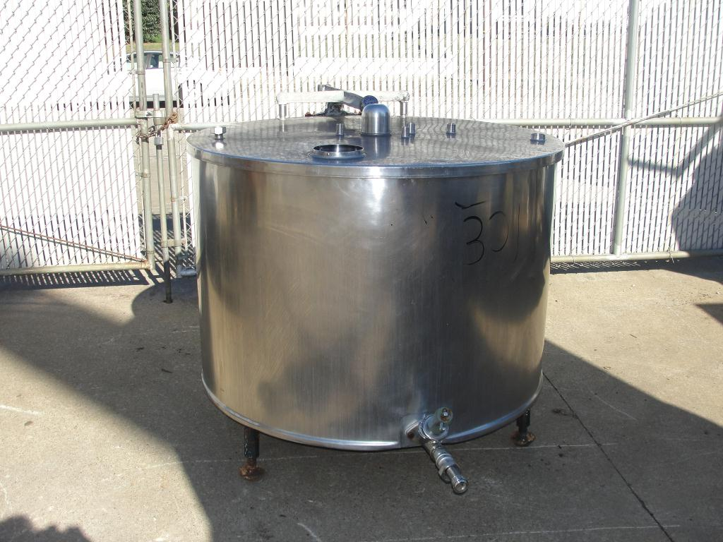 Kettle 250 gallon Pfaudler processor kettle, 125 PSI psi jacket rating, Stainless Steel1