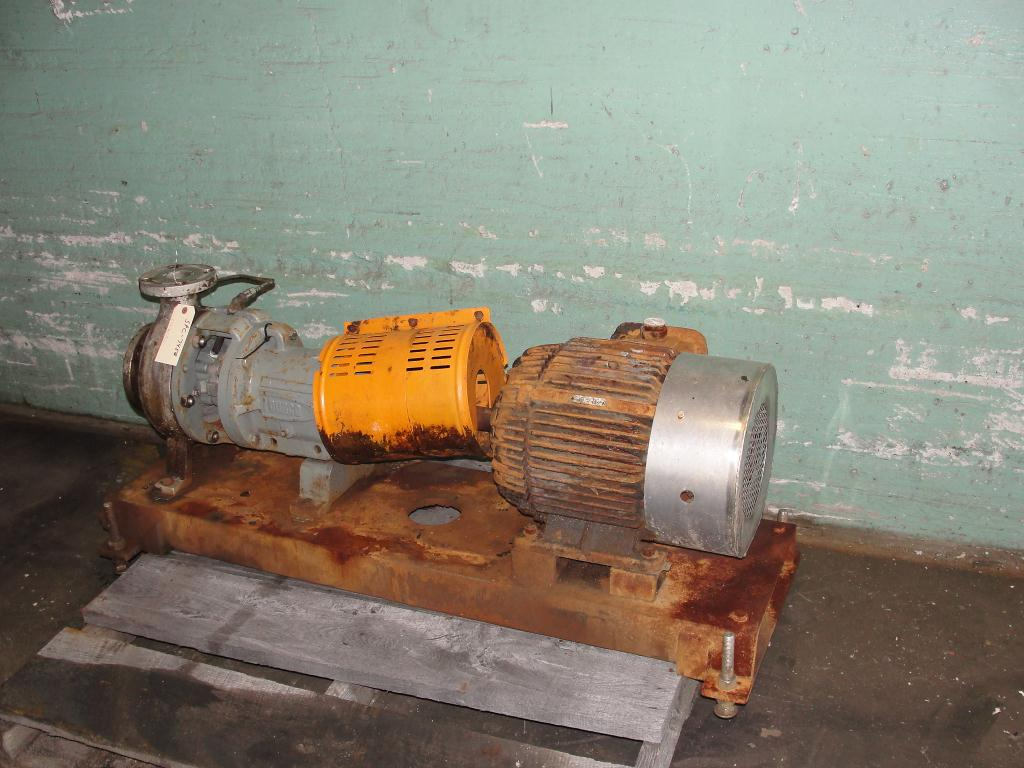 Pump 3x2-7/60 Durco centrifugal pump, 15 hp, 316 SS1
