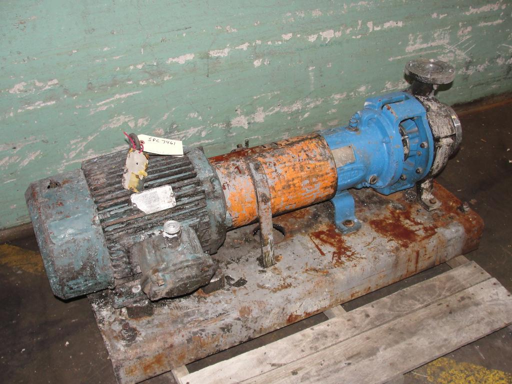 Pump 2K3x2-32/32 Durco centrifugal pump, 15 hp, 316 SS2