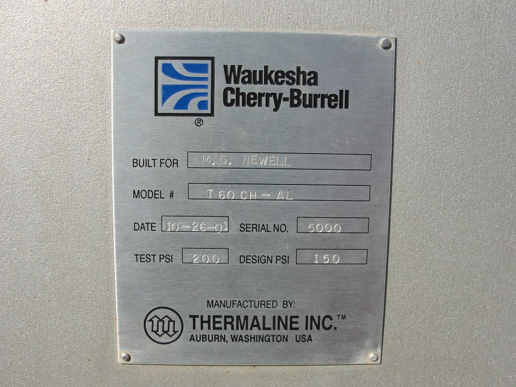 Heat Exchanger 549 sq.ft. Waukesha Cherry Burrell plate heat exchanger, Stainless Steel5