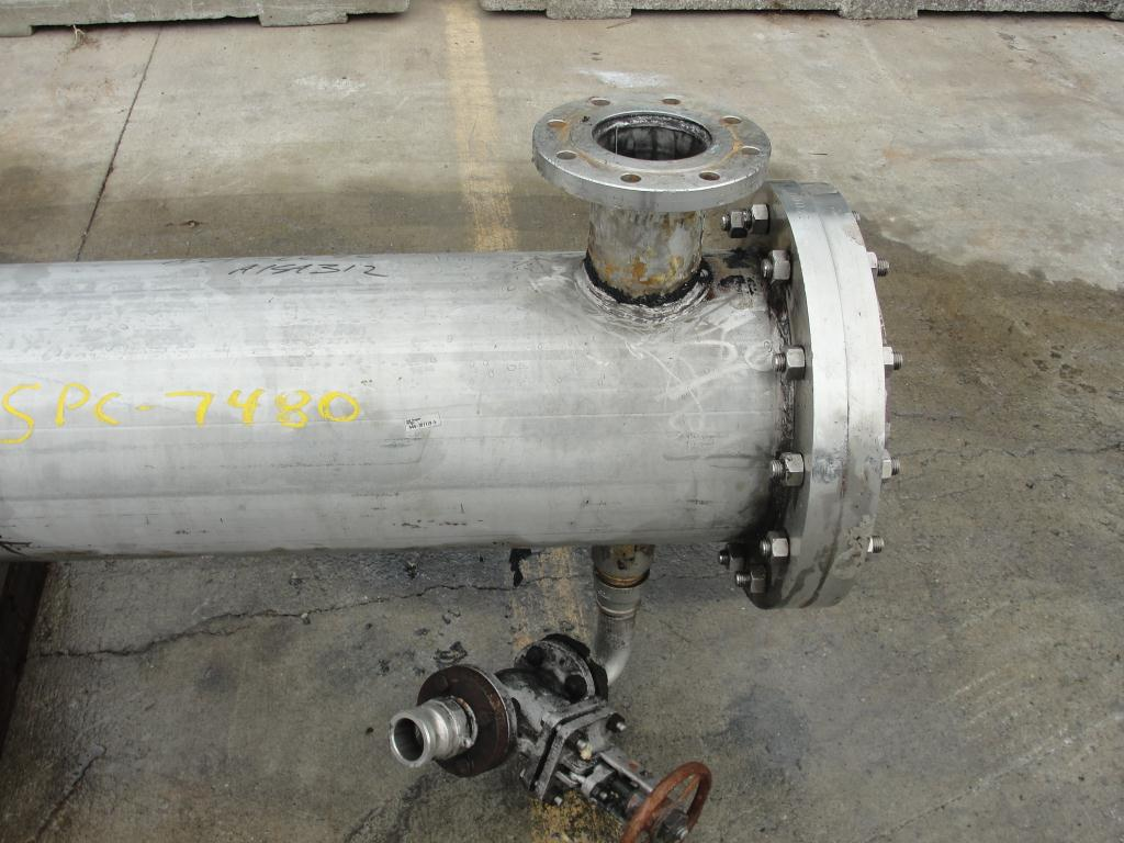 Heat Exchanger 370 sq.ft. Isotherm shell and tube heat exchanger, 100 psi shell, 250 psi internal, Stainless Steel4