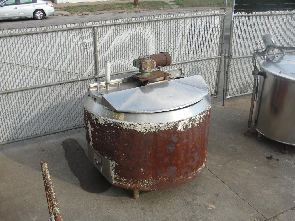 Tank 350 gallon vertical tank, Stainless Steel Contact Parts, atmospheric jacket3